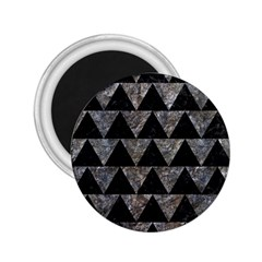 Triangle2 Black Marble & Gray Stone 2 25  Magnets by trendistuff