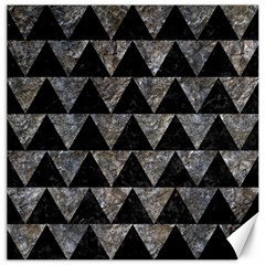 Triangle2 Black Marble & Gray Stone Canvas 12  X 12   by trendistuff