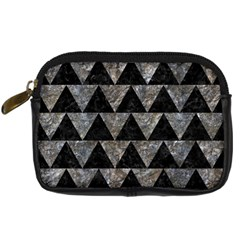 Triangle2 Black Marble & Gray Stone Digital Camera Cases by trendistuff