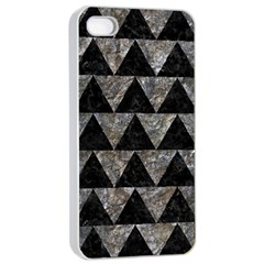 Triangle2 Black Marble & Gray Stone Apple Iphone 4/4s Seamless Case (white) by trendistuff