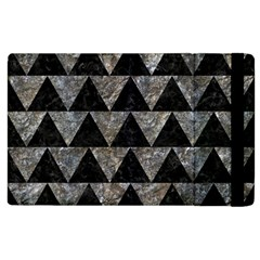 Triangle2 Black Marble & Gray Stone Apple Ipad 2 Flip Case by trendistuff