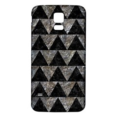 Triangle2 Black Marble & Gray Stone Samsung Galaxy S5 Back Case (white) by trendistuff