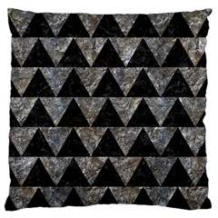 Triangle2 Black Marble & Gray Stone Standard Flano Cushion Case (one Side)
