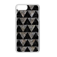 Triangle2 Black Marble & Gray Stone Apple Iphone 7 Plus White Seamless Case by trendistuff