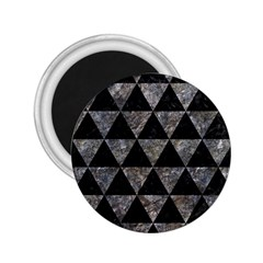 Triangle3 Black Marble & Gray Stone 2 25  Magnets by trendistuff