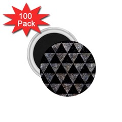 Triangle3 Black Marble & Gray Stone 1 75  Magnets (100 Pack)  by trendistuff