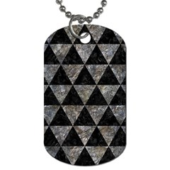 Triangle3 Black Marble & Gray Stone Dog Tag (one Side) by trendistuff