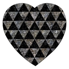 Triangle3 Black Marble & Gray Stone Jigsaw Puzzle (heart) by trendistuff