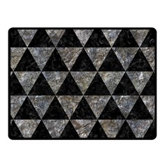 Triangle3 Black Marble & Gray Stone Fleece Blanket (small) by trendistuff
