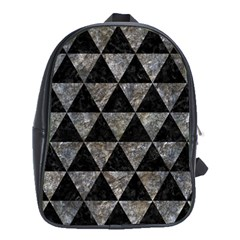 Triangle3 Black Marble & Gray Stone School Bag (xl) by trendistuff