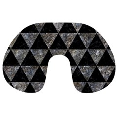 Triangle3 Black Marble & Gray Stone Travel Neck Pillows by trendistuff