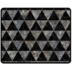 Triangle3 Black Marble & Gray Stone Double Sided Fleece Blanket (medium)  by trendistuff