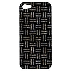 Woven1 Black Marble & Gray Stone Apple Iphone 5 Hardshell Case by trendistuff