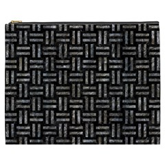Woven1 Black Marble & Gray Stone Cosmetic Bag (xxxl)  by trendistuff