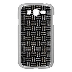 Woven1 Black Marble & Gray Stone Samsung Galaxy Grand Duos I9082 Case (white) by trendistuff