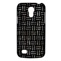 Woven1 Black Marble & Gray Stone Galaxy S4 Mini by trendistuff