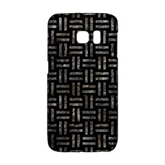 Woven1 Black Marble & Gray Stone Galaxy S6 Edge by trendistuff