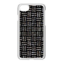 Woven1 Black Marble & Gray Stone Apple Iphone 7 Seamless Case (white) by trendistuff