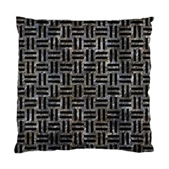 Woven1 Black Marble & Gray Stone (r) Standard Cushion Case (one Side) by trendistuff