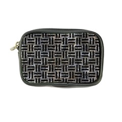 Woven1 Black Marble & Gray Stone (r) Coin Purse