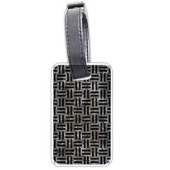 Woven1 Black Marble & Gray Stone (r) Luggage Tags (one Side)  by trendistuff