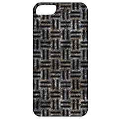 Woven1 Black Marble & Gray Stone (r) Apple Iphone 5 Classic Hardshell Case by trendistuff