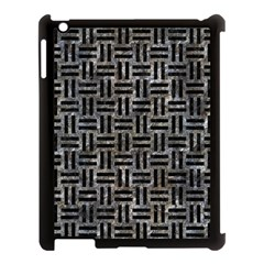 Woven1 Black Marble & Gray Stone (r) Apple Ipad 3/4 Case (black) by trendistuff