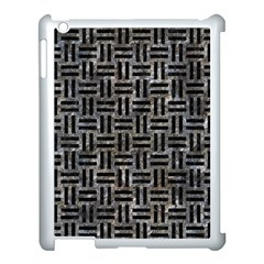 Woven1 Black Marble & Gray Stone (r) Apple Ipad 3/4 Case (white) by trendistuff