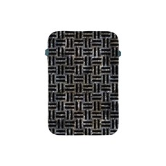 Woven1 Black Marble & Gray Stone (r) Apple Ipad Mini Protective Soft Cases by trendistuff