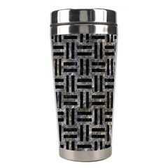 Woven1 Black Marble & Gray Stone (r) Stainless Steel Travel Tumblers by trendistuff