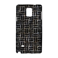 Woven1 Black Marble & Gray Stone (r) Samsung Galaxy Note 4 Hardshell Case by trendistuff