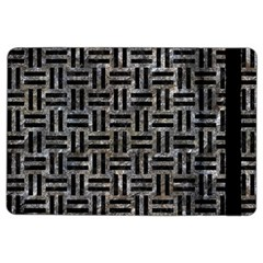 Woven1 Black Marble & Gray Stone (r) Ipad Air 2 Flip by trendistuff