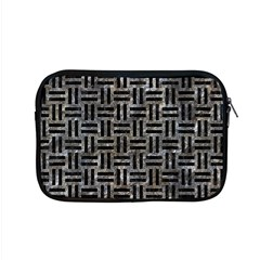 Woven1 Black Marble & Gray Stone (r) Apple Macbook Pro 15  Zipper Case by trendistuff