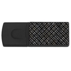 Woven2 Black Marble & Gray Stone Rectangular Usb Flash Drive by trendistuff