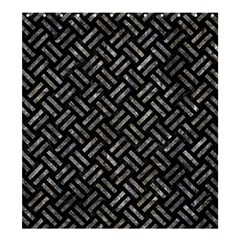 Woven2 Black Marble & Gray Stone Shower Curtain 66  X 72  (large)  by trendistuff