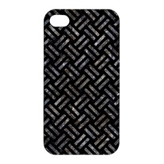 Woven2 Black Marble & Gray Stone Apple Iphone 4/4s Hardshell Case by trendistuff