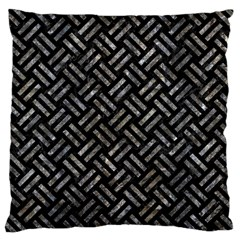 Woven2 Black Marble & Gray Stone Large Cushion Case (two Sides) by trendistuff