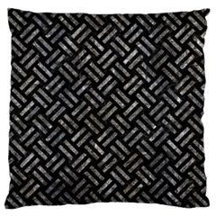 Woven2 Black Marble & Gray Stone Standard Flano Cushion Case (one Side) by trendistuff