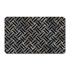 Woven2 Black Marble & Gray Stone (r) Magnet (rectangular) by trendistuff