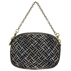 Woven2 Black Marble & Gray Stone (r) Chain Purses (one Side)  by trendistuff