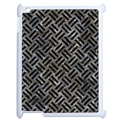 Woven2 Black Marble & Gray Stone (r) Apple Ipad 2 Case (white) by trendistuff