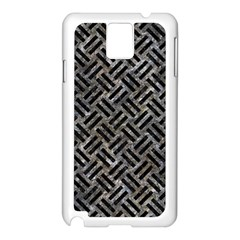 Woven2 Black Marble & Gray Stone (r) Samsung Galaxy Note 3 N9005 Case (white) by trendistuff