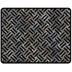 Woven2 Black Marble & Gray Stone (r) Double Sided Fleece Blanket (medium)  by trendistuff