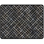 WOVEN2 BLACK MARBLE & GRAY STONE (R) Double Sided Fleece Blanket (Medium)  58.8 x47.4  Blanket Front