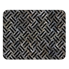Woven2 Black Marble & Gray Stone (r) Double Sided Flano Blanket (large)  by trendistuff
