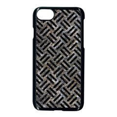 Woven2 Black Marble & Gray Stone (r) Apple Iphone 7 Seamless Case (black) by trendistuff