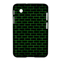 Brick1 Black Marble & Green Brushed Metal Samsung Galaxy Tab 2 (7 ) P3100 Hardshell Case  by trendistuff