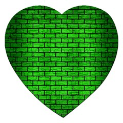 Brick1 Black Marble & Green Brushed Metal (r) Jigsaw Puzzle (heart) by trendistuff