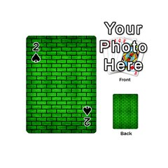 Brick1 Black Marble & Green Brushed Metal (r) Playing Cards 54 (mini)  by trendistuff
