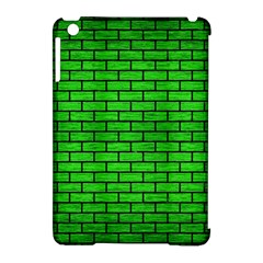 Brick1 Black Marble & Green Brushed Metal (r) Apple Ipad Mini Hardshell Case (compatible With Smart Cover) by trendistuff